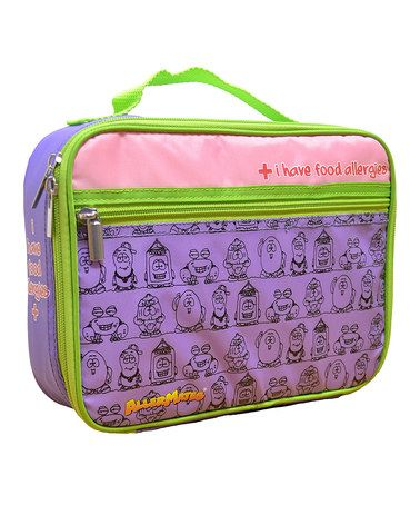 Loving this Purple 'I Have Food Allergies' Lunch Bag on #zulily! #zulilyfinds