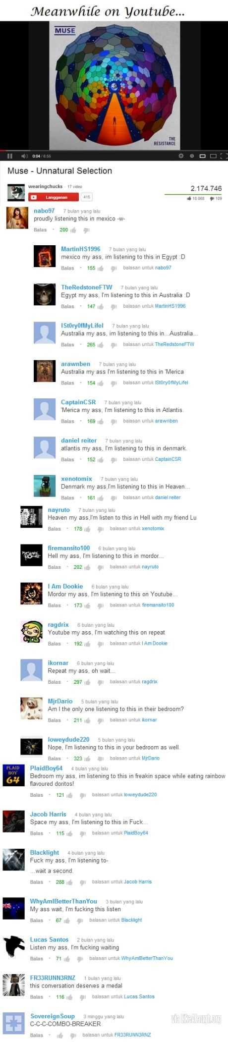 Meanwhile on youtube...