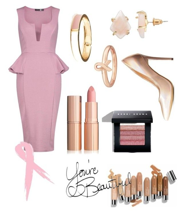Pretty in Pink by brieofhearts on Polyvore featuring polyvore fashion style Boohoo Anne Michelle Loli Bijoux Old Navy Stacks and Stones Bobbi Brown Cosmetics Olsen clothing