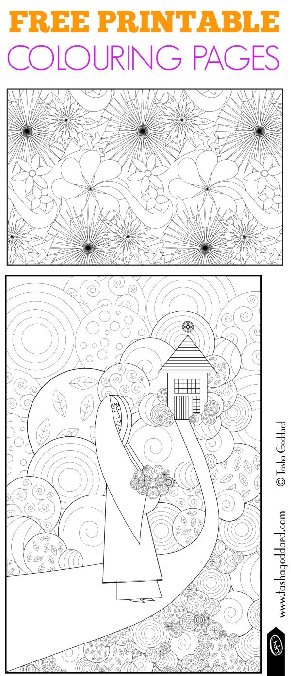 Free online printable adult coloring pages - Exclusive Free Printable Colouring Pages From Tasha Goddard These Beautiful Free Adult Colouring Pages Are