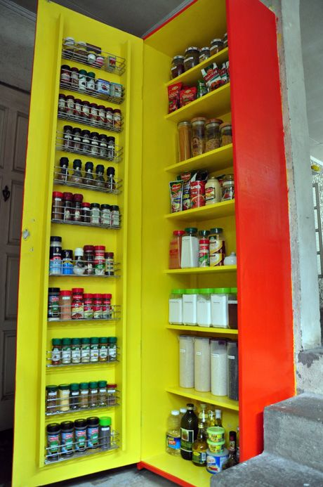 Pantry cabinet in Manila, The Philippines. From The Perfect Pantry.