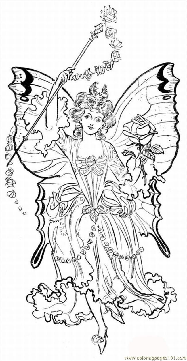 Free Printable Coloring Image Tasy Fairy Pages Lrg