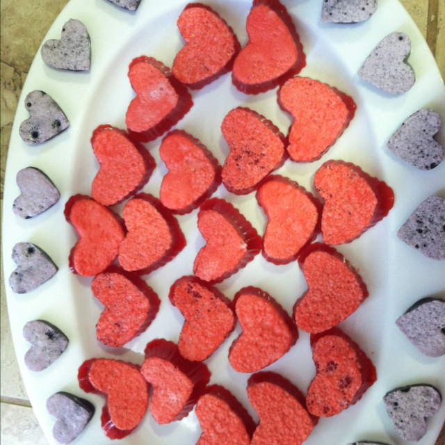 Heart Shape Jello Jigglers! | Fun Food Ideas | Pinterest