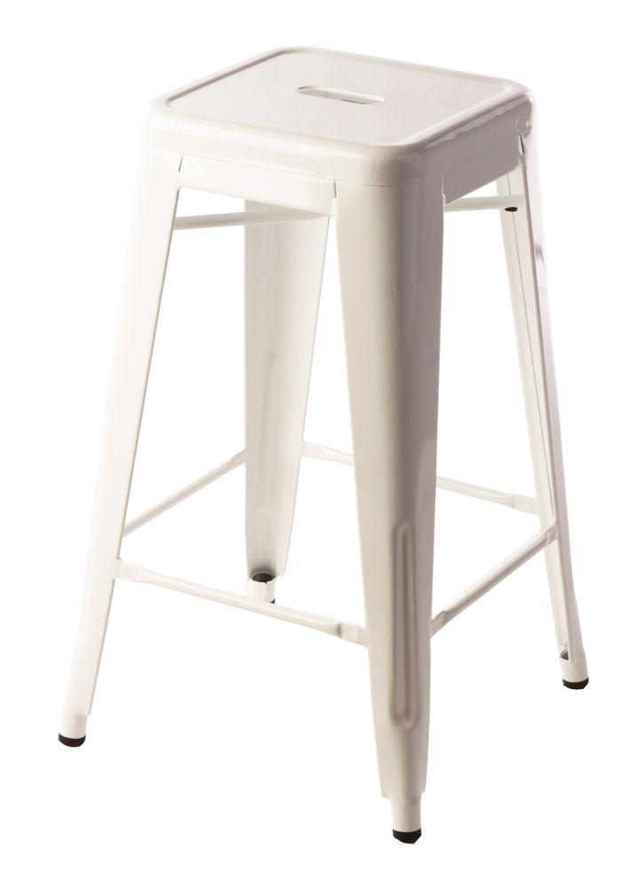 65cm White Replica Xavier Pauchard Tolix Stool $69 Each!!  http://www.stoolsandchairs.com.au/replica-tolix-stool-65cm-white-set-of-4/  #white #xavier #pauchard #tolix #breakfast #stool