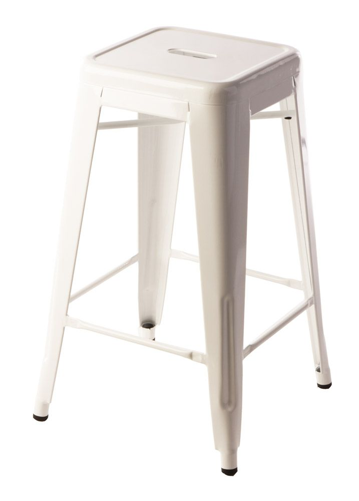 65cm White Replica Xavier Pauchard Tolix Stool $69 Each!!  http://www.stoolsandchairs.com.au/replica-tolix-stool-65cm-white-set-of-4/  #white #xavier #pauchard #tolix #breakfast #stool