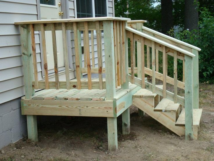 Small deck for the garage door! Patio deck designs, Deck