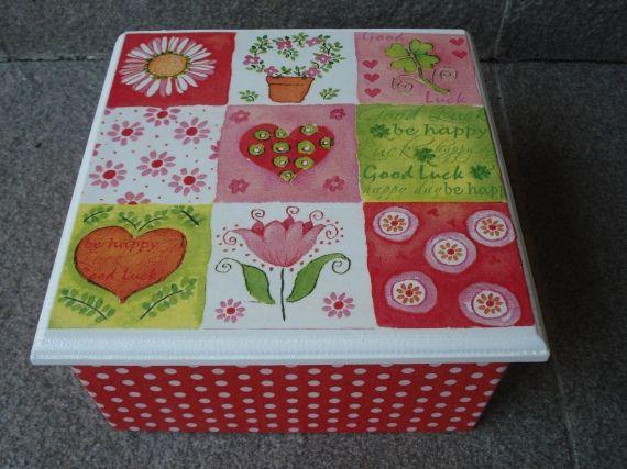 Caja de Té con decoupage - Cajas - Casa - 800730