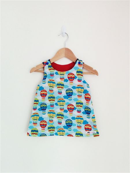 Hot Air Balloons A-line Pinafore Size 12-18mths - ready to post