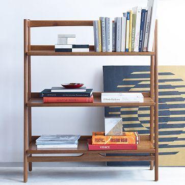 midcentury bookshelf low westelm