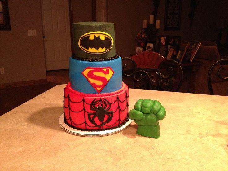The Hulk Ironman Batman Spiderman Flash X Men Cake On Pinterest