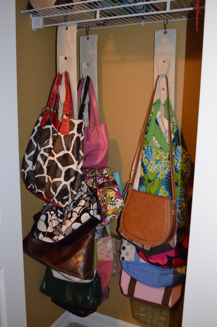 Avon sold the perfect purse organizer that i have in an - Closet organizer for purses ...