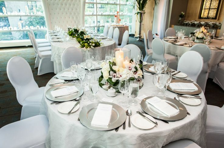 head table placement, view of a guest table
