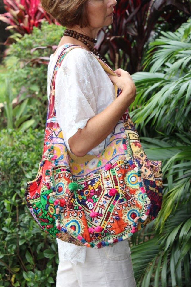 Each Banjarah Bag is uniquely handcrafted using antique fabrics