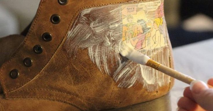 Schuhe mit Altpapier richtig schick machen. – Karin Bohnhorst