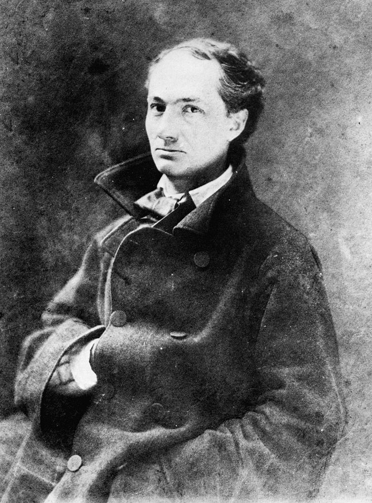 Charles Baudelaire 1855. By Félix Nadar