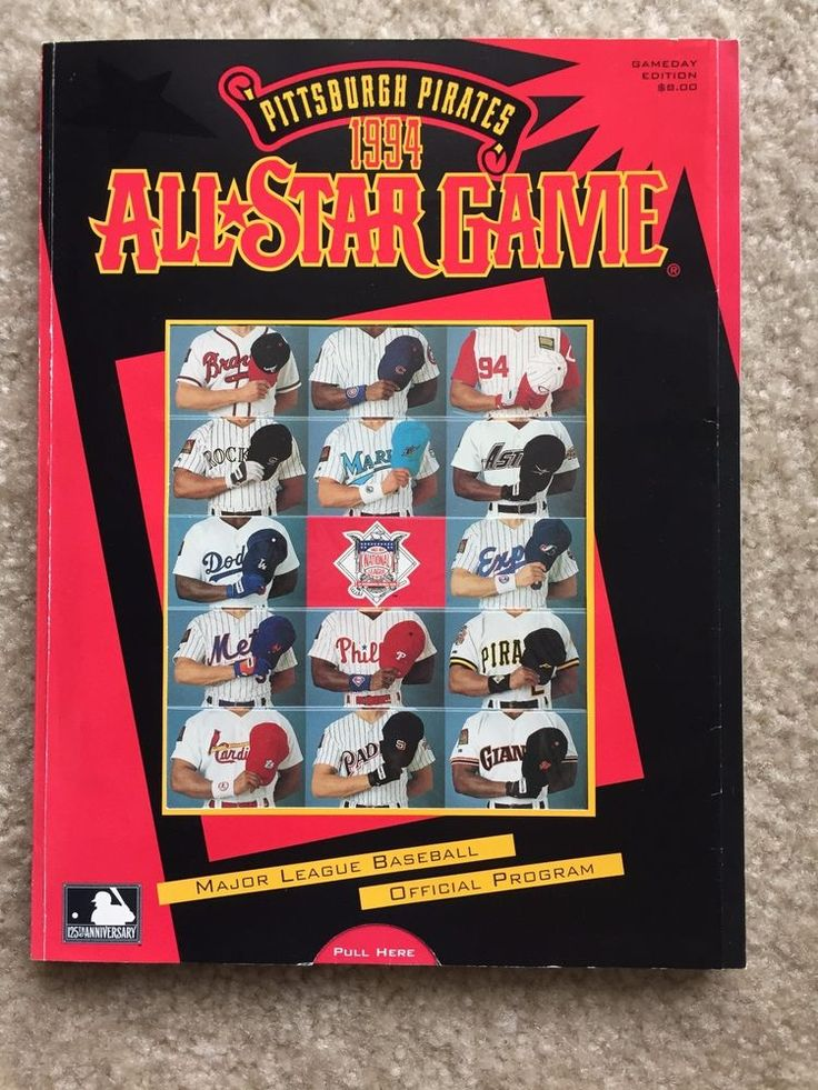 1994 Pittsburgh Pirates All-Star Game Official MLB Program Gameday Edition NL AL