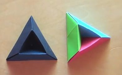 Origami diagram of the triangle box