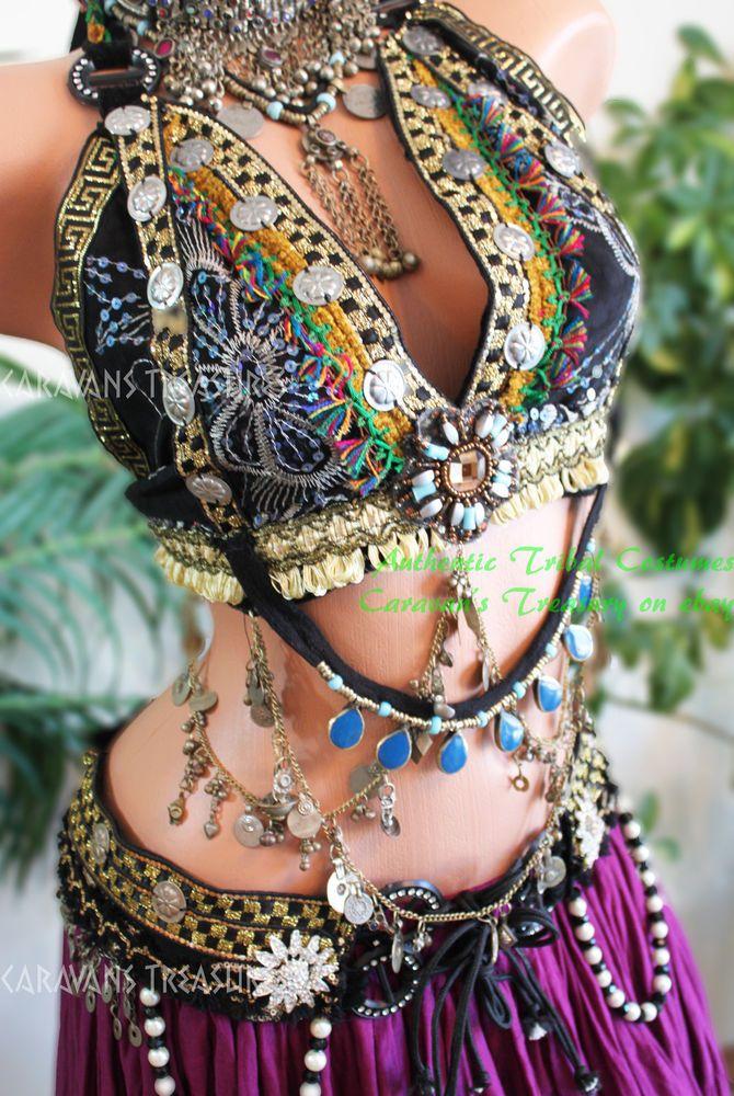 Belly Dance Halter Bra Gypsy Tribal Fusion ATS Fantasy Renaissance Cos Play in Belly Dancing | eBay