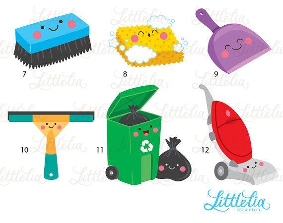 Cleaning Kawaii Clean Day Kawaii 16087 Articulos De Limpieza