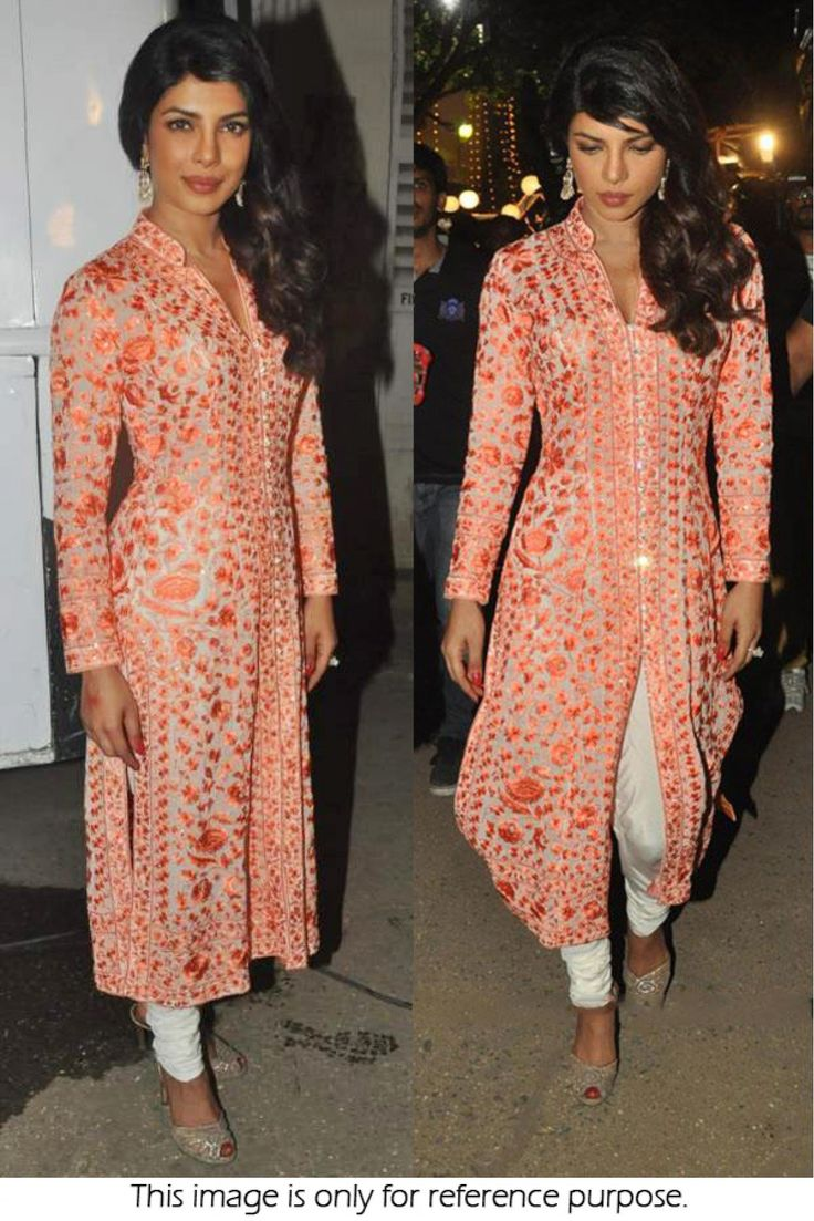 Bollywood Style Priyanka Chopra 60 GM Georgette and Tasar Suit In Peach Colour…