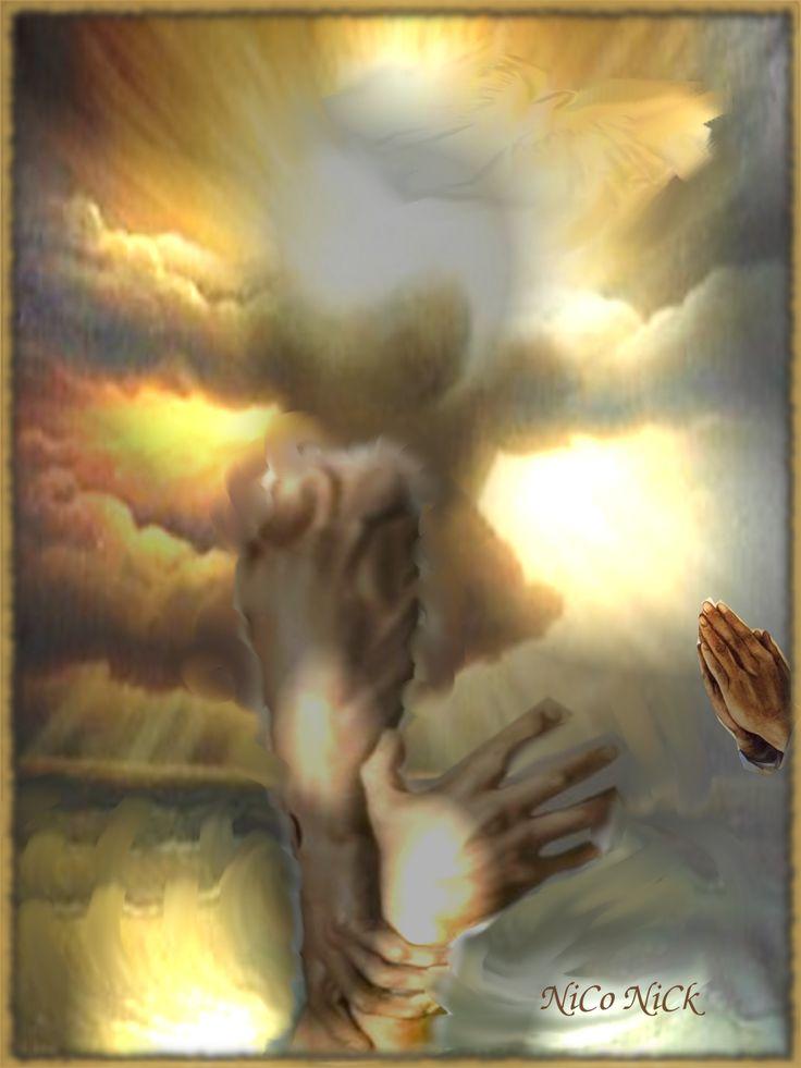 Az ima ereje szürrealista montázs