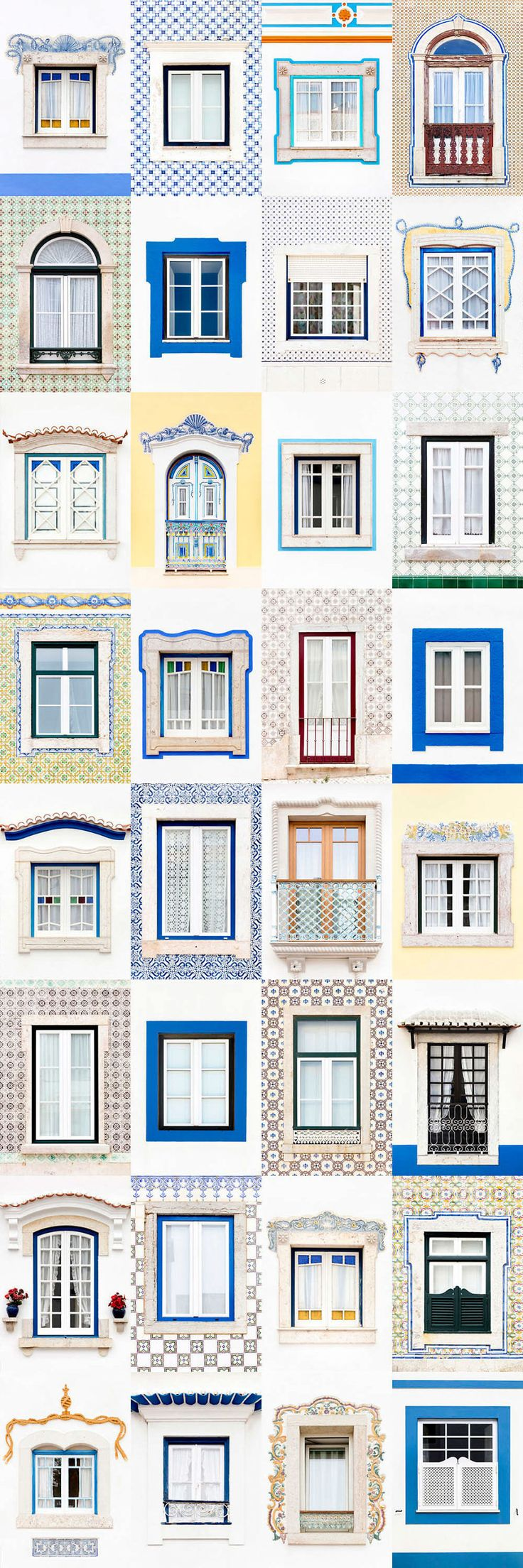 I Traveled All Over #Portugal To Photograph Windows, And Captured More Than 3200 Of Them - via BoredPanda 23-10-2017 | If you are planning a trip to Portugal, you can see which are the most beautiful cities to visit or what kind of architecture you like the most. Photo: Ericeira