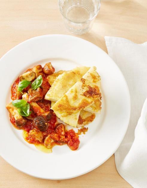 Sellerieschnitzel mit Pilz-Tomaten-Sugo Rezept - [ESSEN UND TRINKEN]