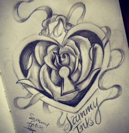 25 Heart Locket Tattoo Designs Ideas: Best 25+ Heart Lock Tattoo Ideas On Pinterest