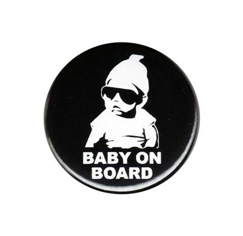 Baby On Board Carlos Hangover Button Badge – The Sticker Gal
