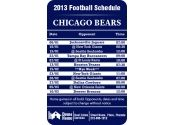 3.5x2.25 in One Team Chicago Bears Football Schedule