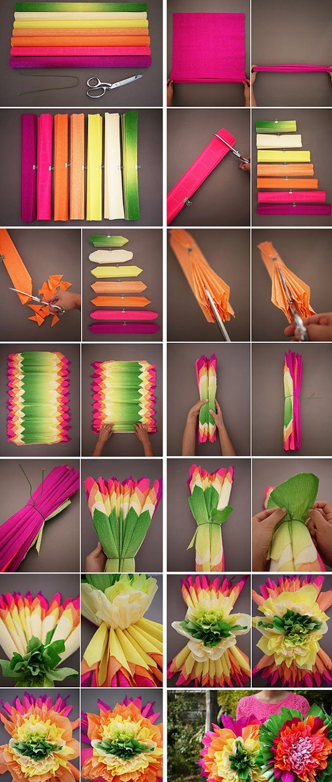 25+ melhores ideias sobre Flores De Papel Crepom no Pinterest Papel crepom, Artesanato de  -> Decoração De São João Com Papel Crepom