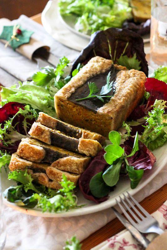 {Mon repas de Noël vegan} Entrée : pâté de potimarron en croûte // {My Christmas vegan menu} Crusted red kuri pâté