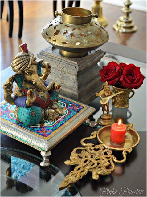 Desi décor style., hand down treasures, heirloom pieces, Indian brass décor, Indian décor, Indian home décor, Indian Inspired Décor, Indian shopping, brass vignettes