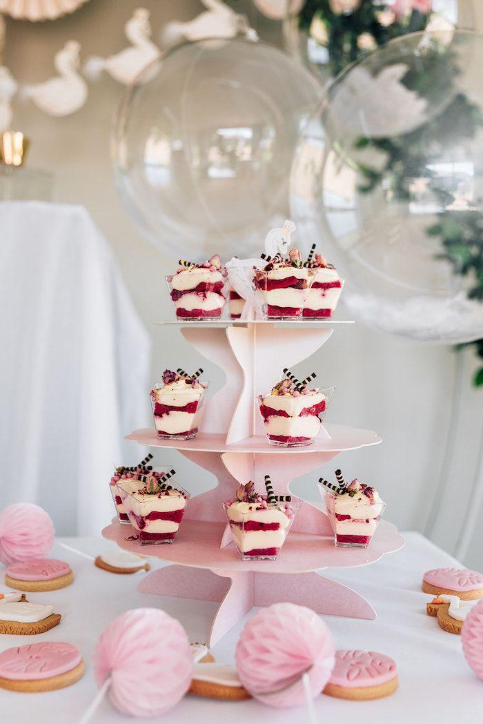 Karas Party Ideas Stylish Swan Birthday