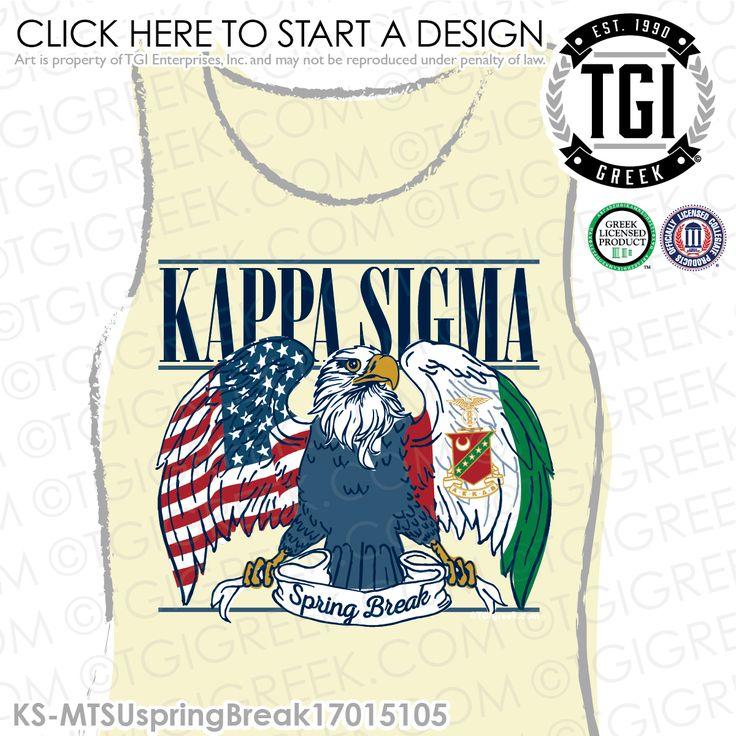 Kappa Sigma | K-Sig | ΚΣ | Kappa Sigma Spring Break | Spring Break | Fraternity Spring Break | Spring Break Tee | TGI Greek | Greek Apparel | Custom Apparel | Fraternity Tee Shirts | Fraternity T-shirts