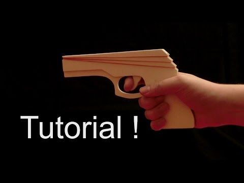 Tutorial! Lever-action Rubberband gun! Part 2 - YouTube