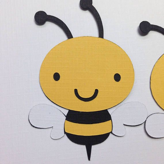 MINI Bee Die Cuts Paper Bee Cut Outs Mom to BEE Baby