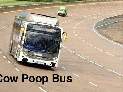 'Cow Poop Bus' running on bio-methane breaks service bus land speed record