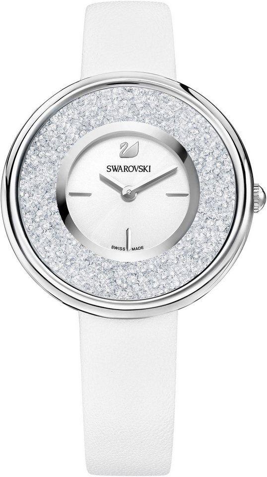 UhrLederarmbandWeiss Schweizer »stella Uhr Swarovski Uhr Swarovski Schweizer CoQdBexWr