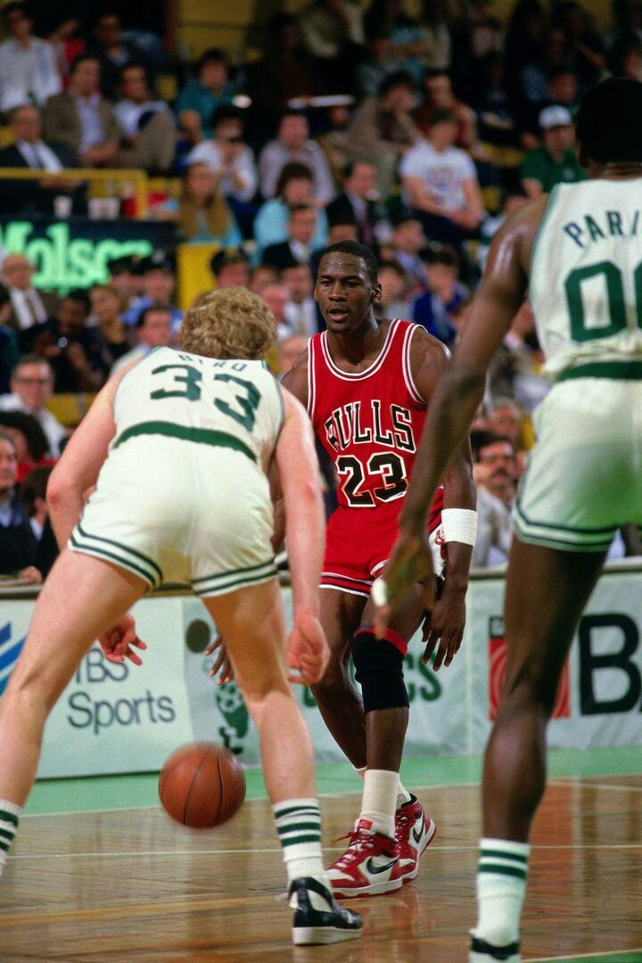 The GOAT has legendary Celtic Larry Bird and Robert Parish on their heels on his way to a 63 point game in a Celtic playoff win in Boston.