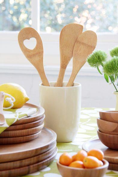 Dandi's range of bamboo kitchen utensils and tableware www.dandi.com.au