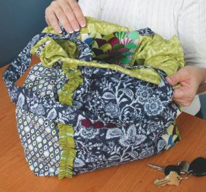 Rufflicious: Free Quilted Purse Pattern