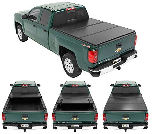 Bestop 14202-01 Black EZ Fold Hard Tonneau Cover for 2014-2017 Chevrolet Silverado/GMC Sierra 1500 (w/o cargo management system), 5.5' bed. For product info go to:  https://www.caraccessoriesonlinemarket.com/bestop-14202-01-black-ez-fold-hard-tonneau-cover-for-2014-2017-chevrolet-silverado-gmc-sierra-1500-w-o-cargo-management-system-5-5-bed/
