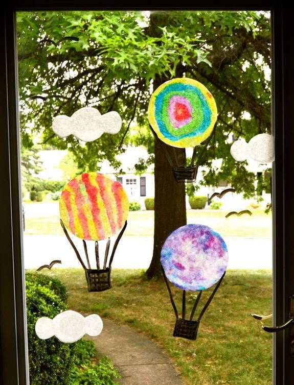 Hot Air Balloon Window Display - From Inner Child Fun