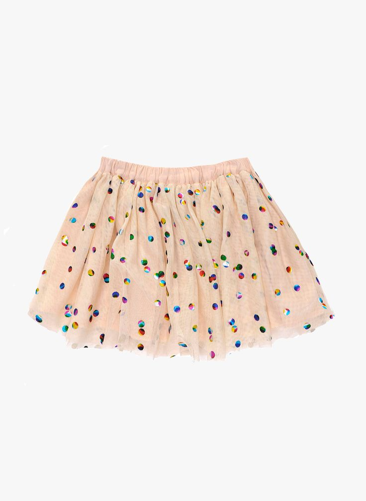 Stella McCartney Kids Honey Girls Polka Dot Tulle Skirt