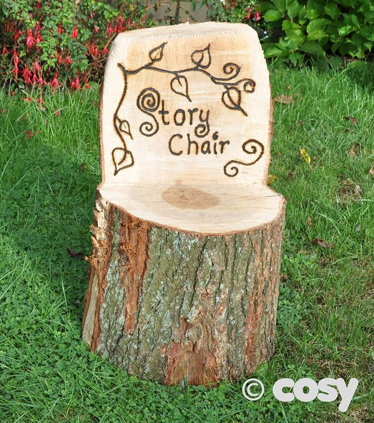 RUSTIC STORY CHAIR - Story Gardens and Seating - Early Years - Cosy Direct