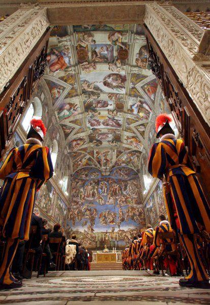 Swiss Guard-Vatican    Sixtinischen Kapelle Vatikan