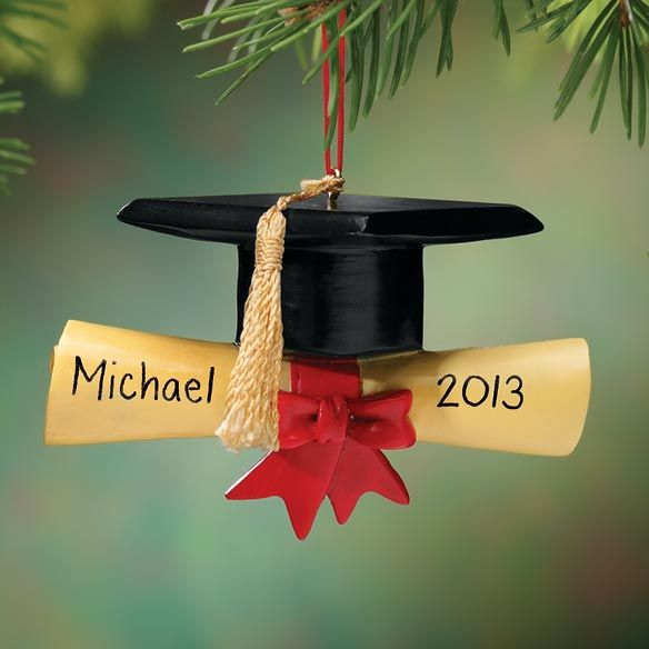 Personalized Graduation Cap Ornament - Zoom For Greg:-)