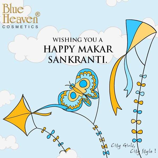 @BlueHeavenCosmetics wishes everyone a very happy Makar Sankranti! May this festival bring happiness, good health and prosperity in everyone's life.🍀🍓🍃 #happymakarsankranti #hello #instagram #awesome #quotes #kite #fly #flyhigh #lipstick #eyeliner #nailpaint