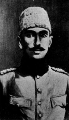 Aziz Ali Al-Masri was an Egyptian in Ottoman service till he fell out either Turks. He then joined Sharif of Makkah during the Arab Revolt in WWI.